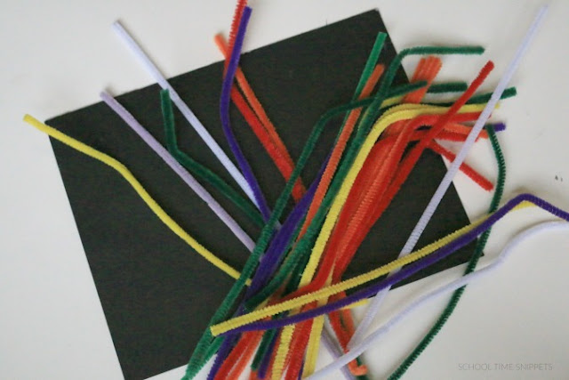 process art with pipe cleaners