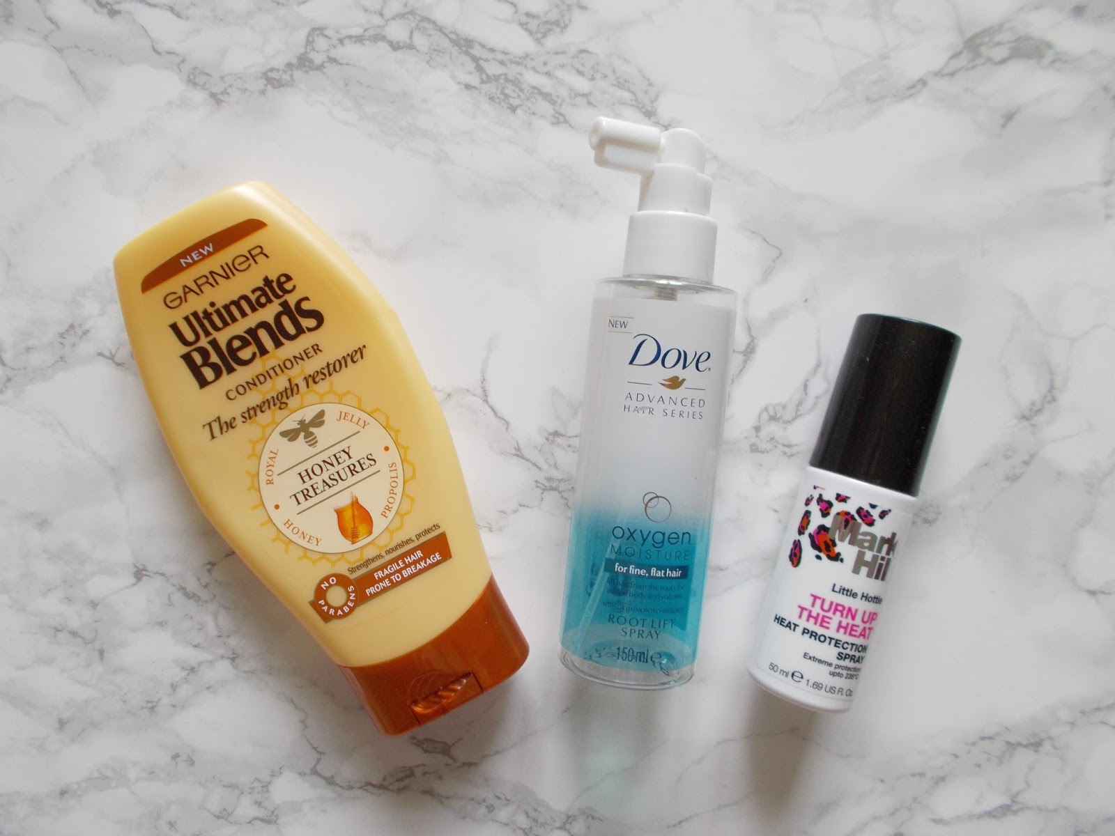 haircare empties review garnier ultimate blends dove root lift spray mark hill heat pretectant