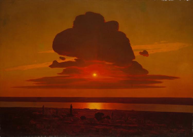 Arkhip Ivanovich Kuindzhi - Red Sunset on the Dnieper 1905