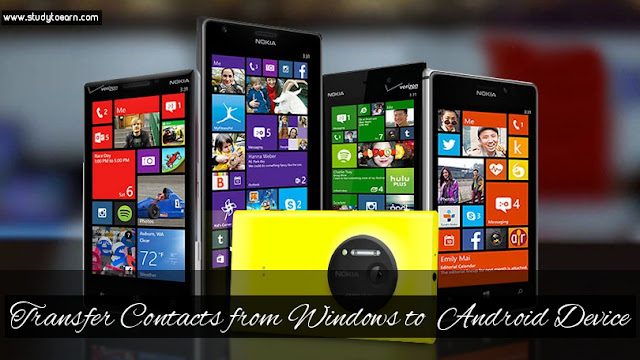 Transfer Contacts from Windows to  Android Device