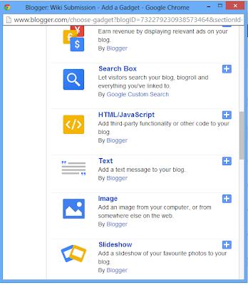 Drop Down Menu Widget for Blogger
