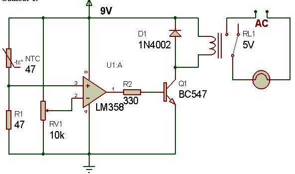 Rangkaian Pengatur Lampu Menggunakan Sensor Suhu Ntc Syarif Projects