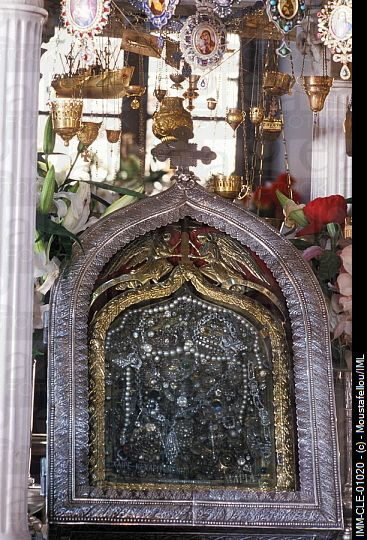 Icon of the annunciation of the Virgin Mary Pnagia Evangelistria church Tinos