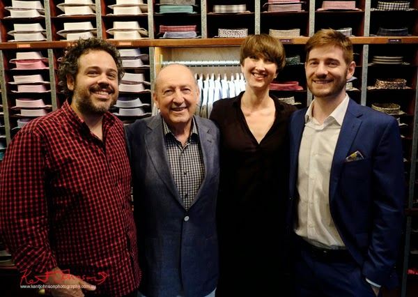 Portrait of Adam, Allan, Louka and Justin. Ganton Man competition at Shirt Bar Sydney - Photography by Kent Johnson.
