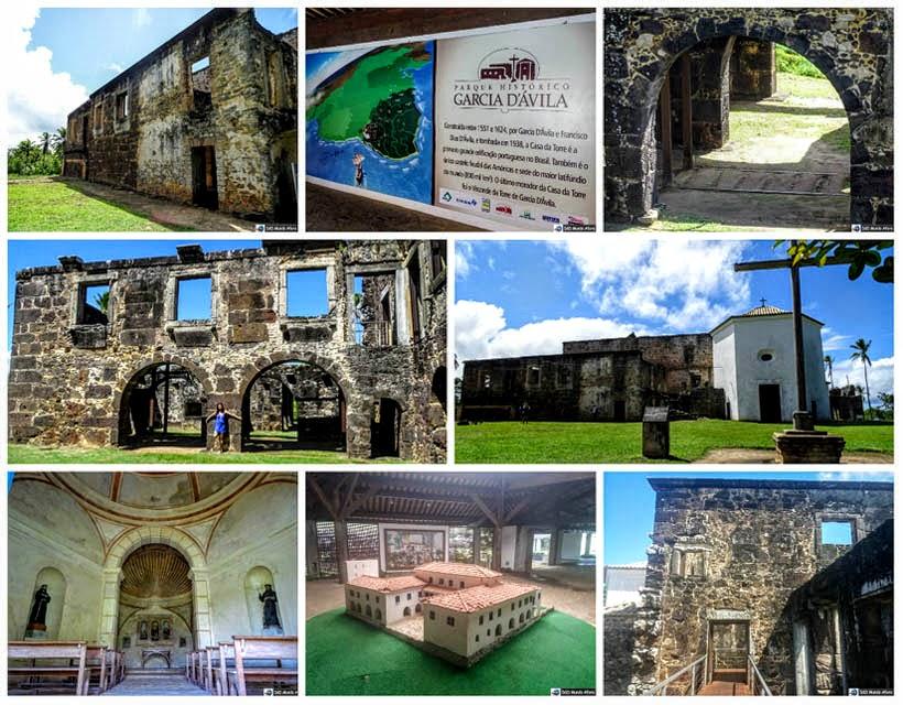 O que fazer na Praia do Forte, Bahia - Ruínas do Castelo Garcia D'Ávila
