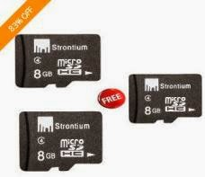 Get Strontium 8GB Micro SDHC Memory Card (Buy 1 Get 2 Offer) – Class 4 just for Rs.499 Only with Free Shipping (5 Yr Warranty)