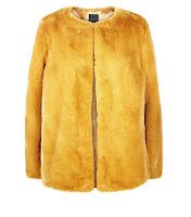 http://www.newlook.com/row/womens/clothing/jackets-coats/mustard-yellow-faux-fur-collarless-jacket/p/553638987?comp=Browse