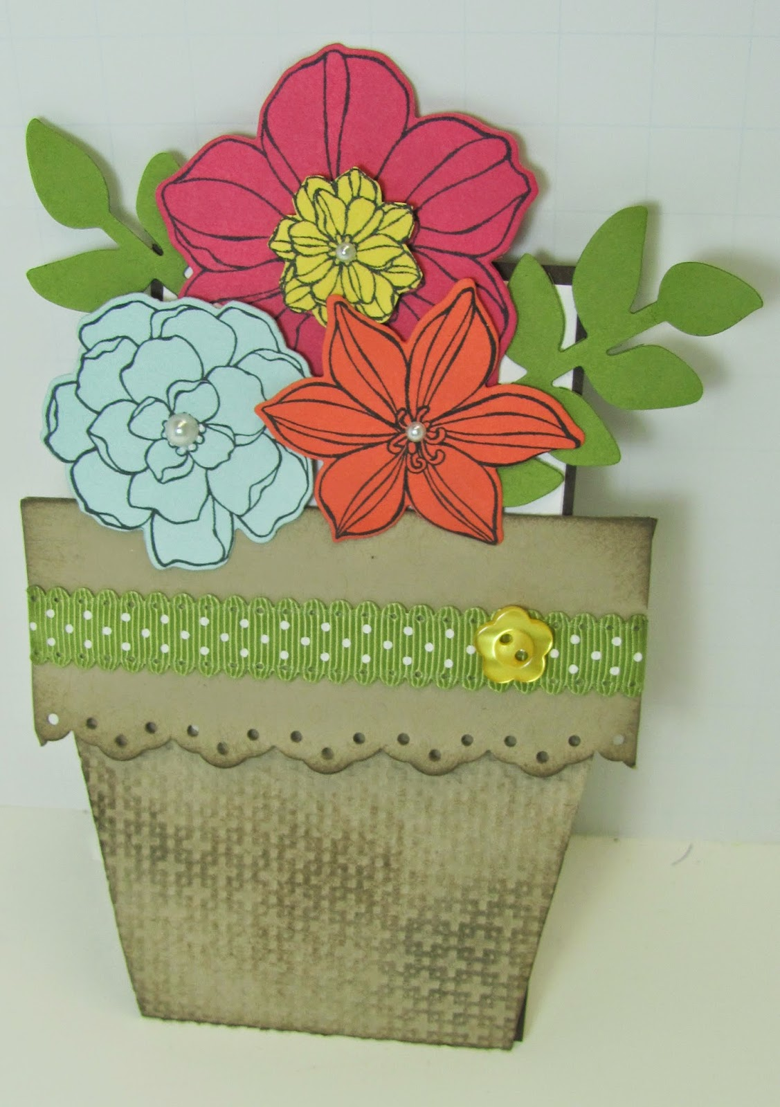 personally yours flower pot card