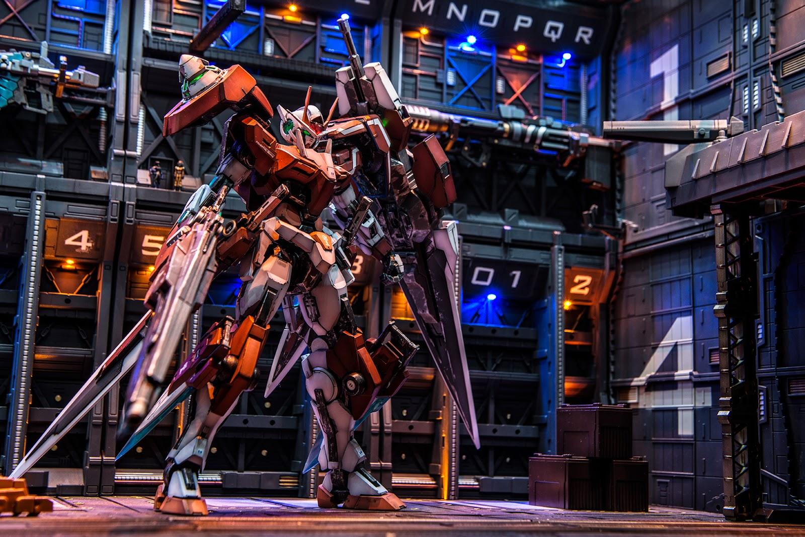 Custom Build Mg 1 100 00 Gundam Seven Sword G Inspection