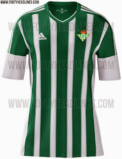 gambar photo Jersey home Real Betis musim depan 2015/2016