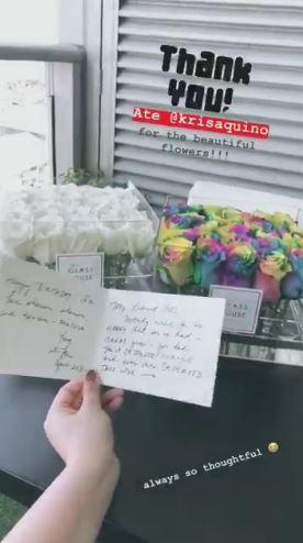 Angel Locsin Thanked Kris Aquino For Sending Her Beautiful Flowers!