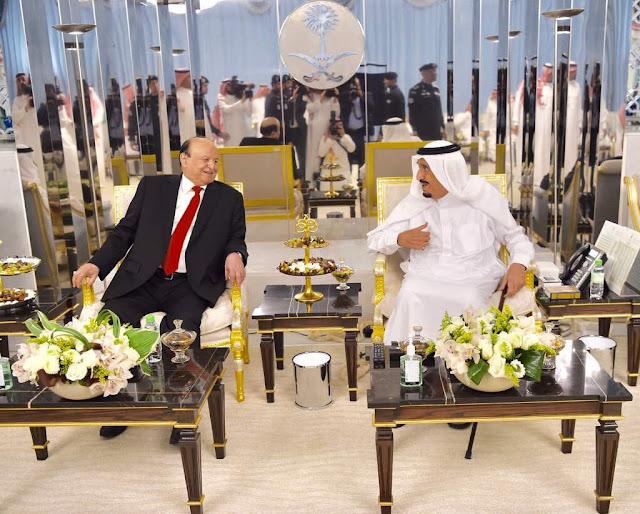 تفاصيل اللقاء الذي جمع الملك سلمان مع الرئيس هادي مساء اليوم _صوره