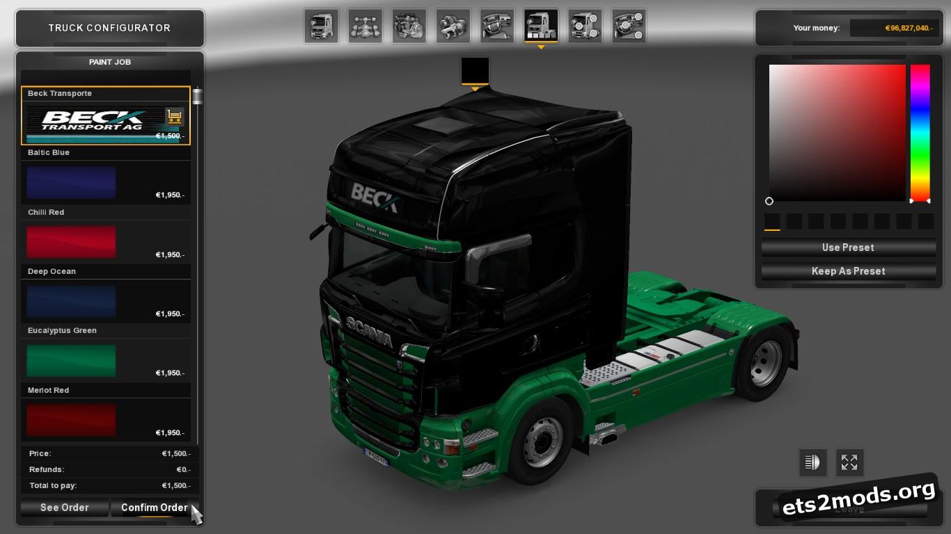Beck Transporte Combo Pack