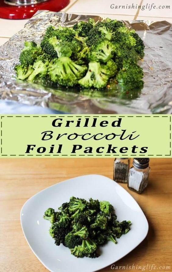Grilled Broccoli Foil Packet