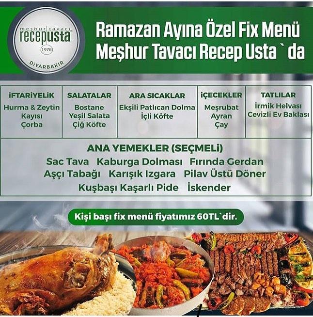 tavacı recep diyarbakır iftar menüsü diyarbakır iftar menü fiyatları diyarbakır iftar yerleri