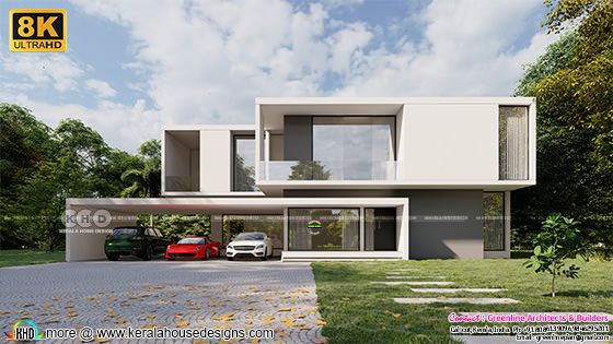 Minimalist style 8K ultra HD 3d house rendering