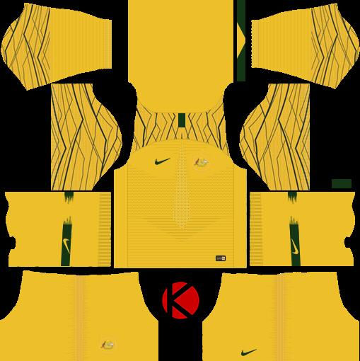 97fcfd5be80 Australia 2018 World Cup Kit - Dream League Soccer Kits - Kuchalana