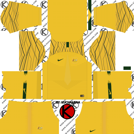 Australia 2018 World Cup Kit -  Dream League Soccer Kits