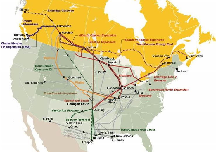 In 2015 US denies oil market access to its ally Canada but grants