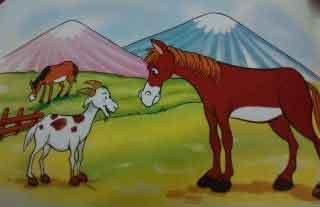 Fábula: La cabra y el caballo