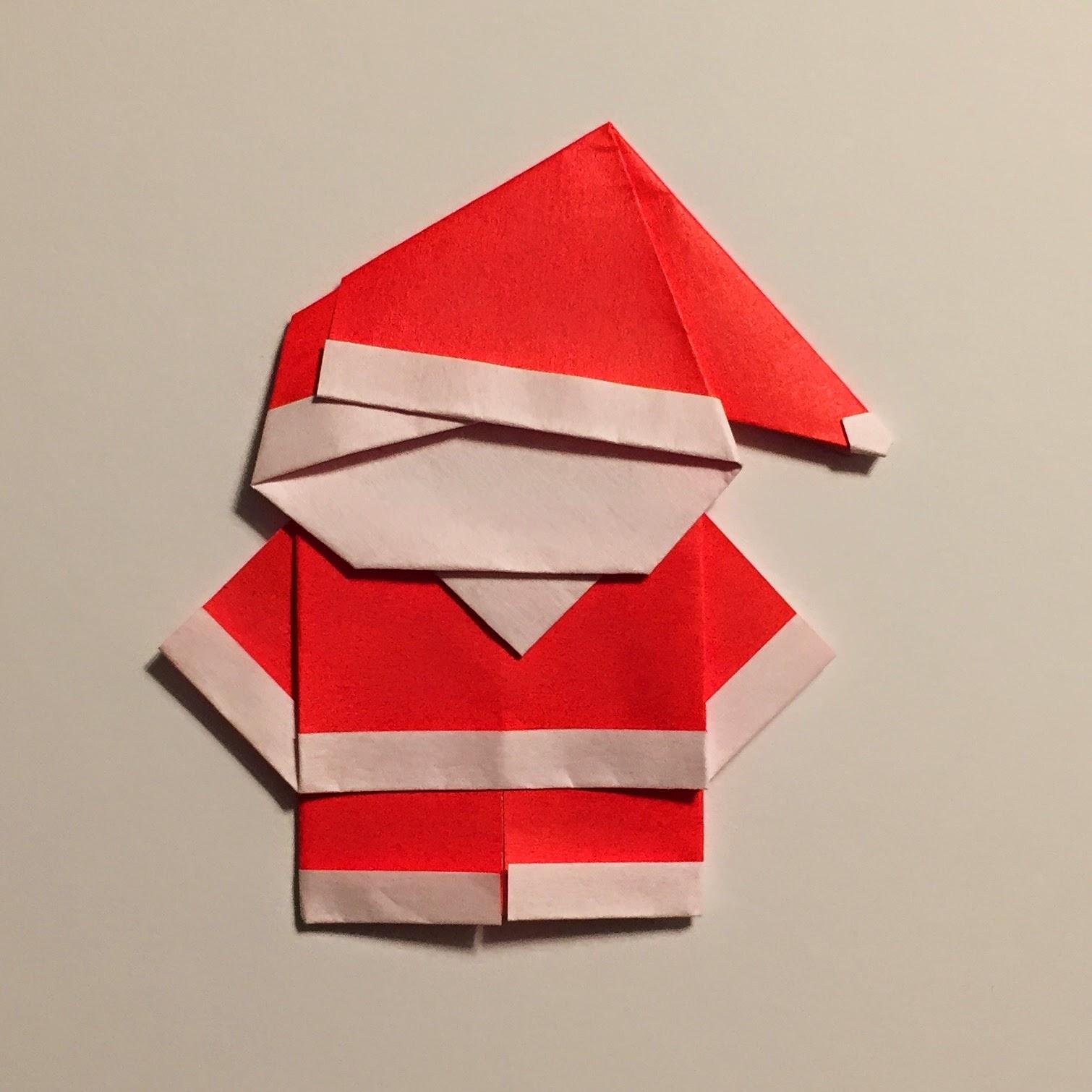 Mr Washisan Santa Claus De Origami - Origami-papa-noel