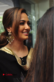 Bollywood Actress Sana Khan Launches Aakrithi Exibition  0086.JPG