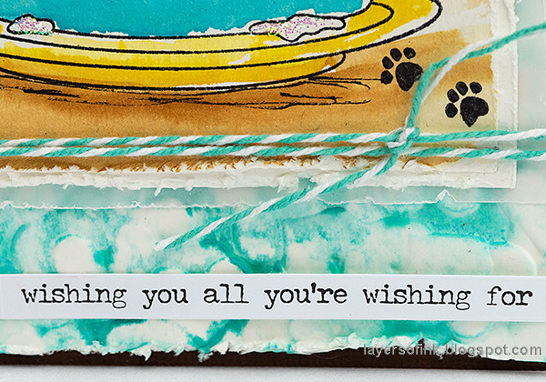 Layers of ink - Birthday Cake Card Tutorial by Anna-Karin Evaldsson.