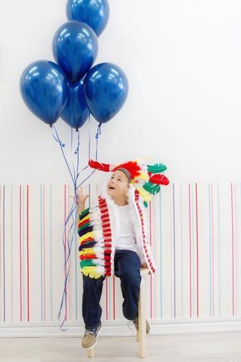 blue ballons