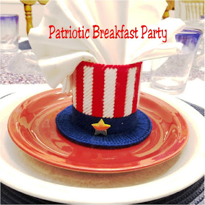Get your family read for the busy 4th of July holiday by starting out the day with a fun and easy Patriotic breakfast party. Simply set the table the night before with these colorful patriotic ideas and the next morning it's a snap to eat and get out the door in a good and festive mood.