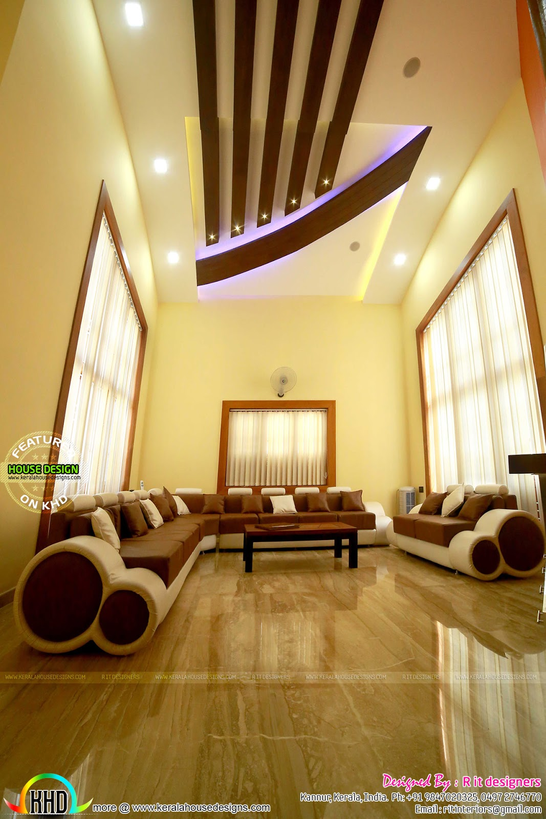 Finished home, floor plan and interiors - Kerala home ...