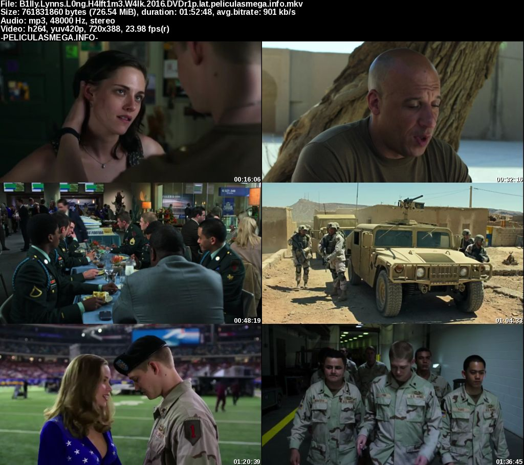 Descargar Billy Lynn Latino por MEGA.