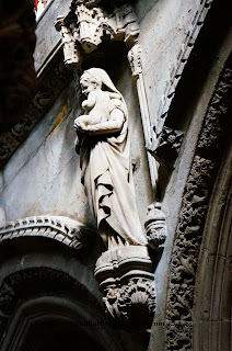Virgin Mary and Baby Jesus, Rosslyn Chapel, Edinburgh, UK