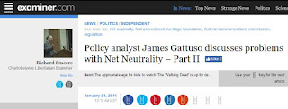 net neutrality James Gattuso Heritage Foundation regulation