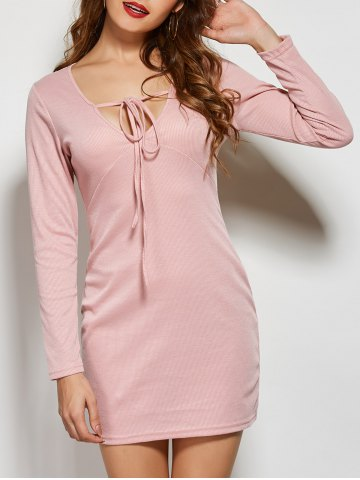 http://www.rosegal.com/sweater-dresses/front-tie-long-sleeve-bodycon-826661.html