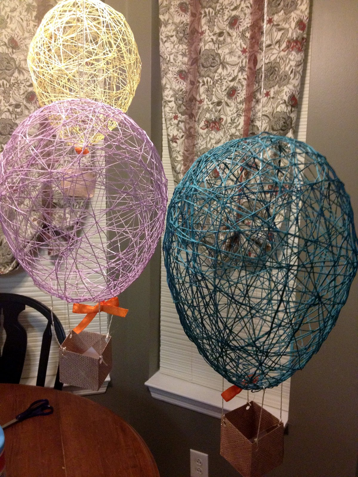 Twine Hot Air Balloons - Tattling to the Teacher