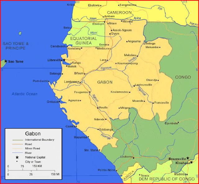 image: Map of Gabon