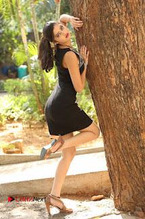 Actress Poojitha Pallavi Naidu Stills in Black Short Dress at Inkenti Nuvve Cheppu Movie Platinum Disc Function  0252.JPG