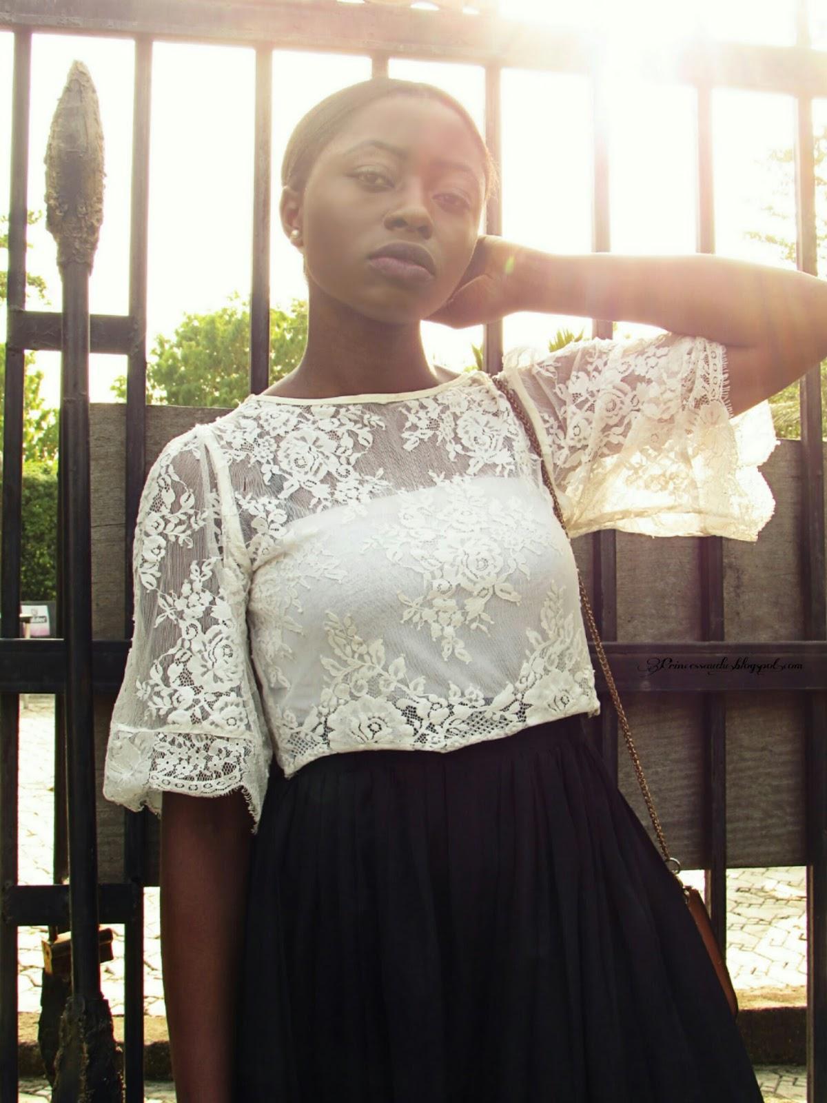Monochrome, black and white,  lace