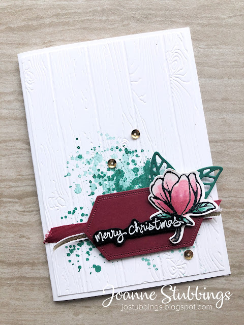 Jo's Stamping Spot - Global Design Project #221 Christmas card using Good Morning Magnolia bundle by Stampin' Up!
