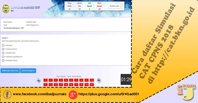 Sambil menunggu informasi dibukanya registrasi CPNS  CPNS 2018 Dibuka Asah Kemampuan Dengan Simulasi CAT CPNS di http://cat.bkn.go.id