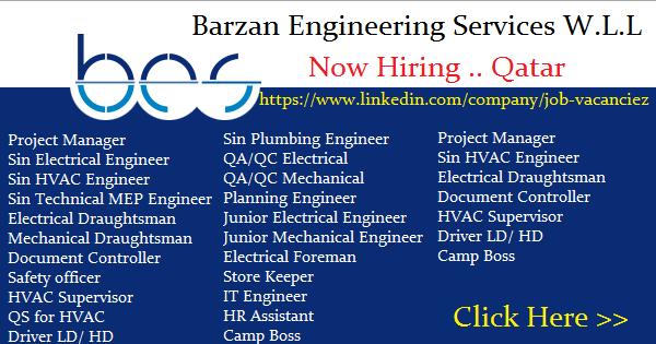 Barzan Engineering Services W L L Job Openings | Qatar