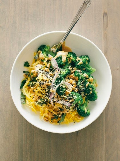 Spaghetti squash Noodle Bowl from Nosh On it blog!