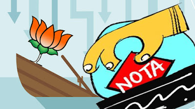 BJP the national party which got lesser vote than NOTA