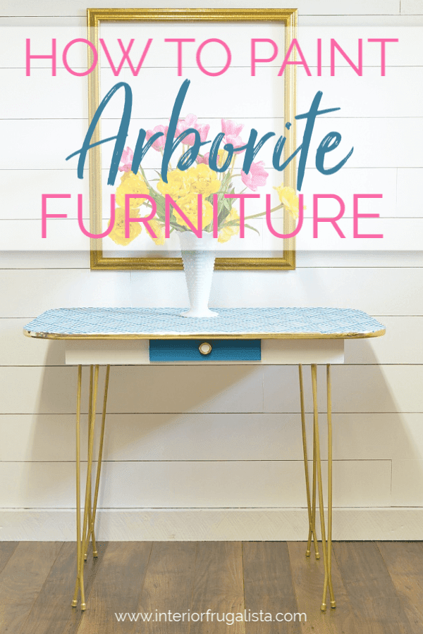 How To Paint Vintage Arborite Retro Dining Tables
