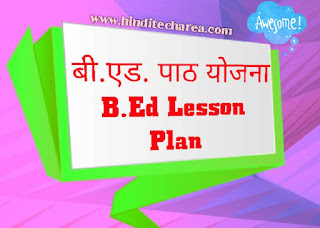Lesson plan format, B.Ed lesson plan, effective lesson plan in Hindi