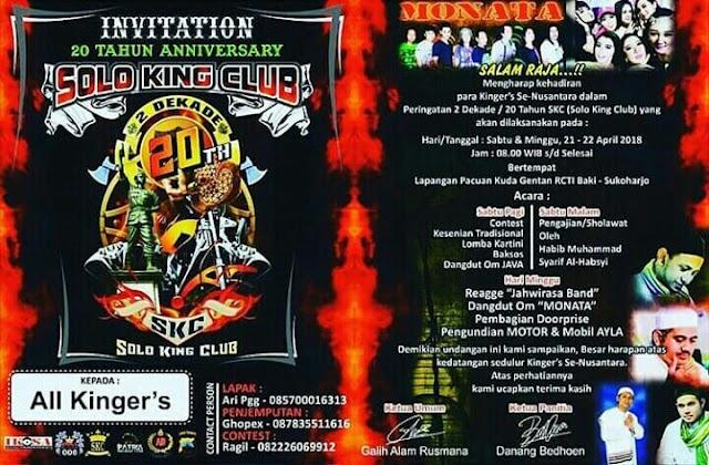 Annyversary Solo King Club (SKC) Ke 20 Tahun