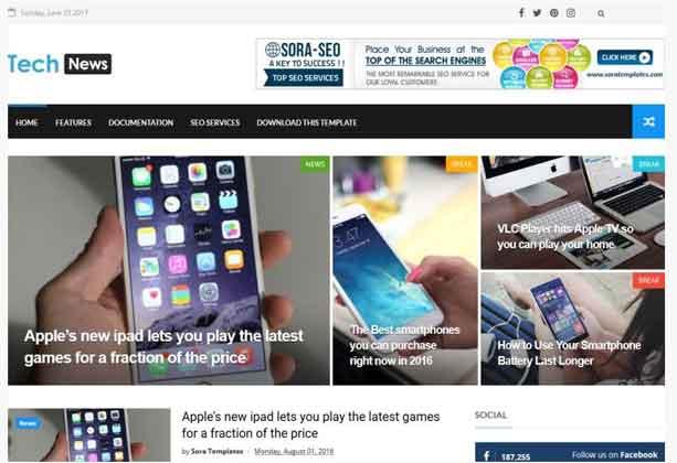 Tech News Blogger Template