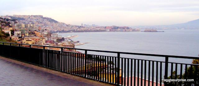 Nápoles vista do Monte Posillipo