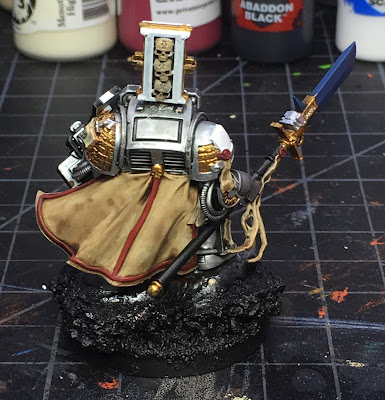 Grey Knight Brother Captain WIP back more base colors blocked in