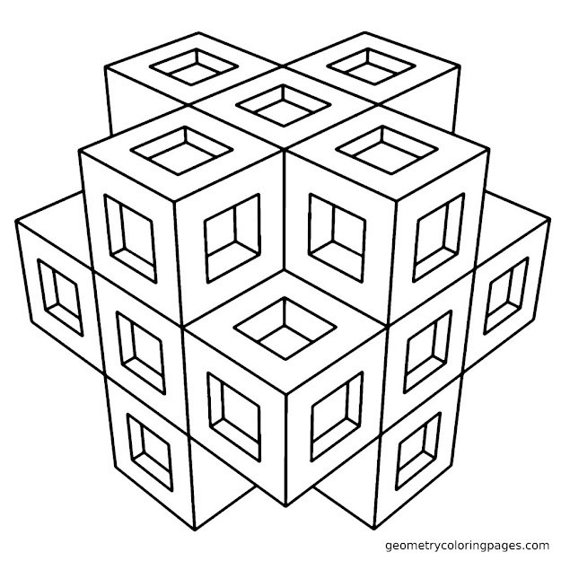 Free Printable Easy Geometric Pattern Coloring Pages To Print Also  Download For Free